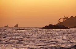 Por do sol do Laguna Beach Imagem de Stock