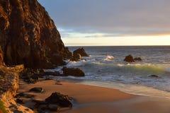 Por do sol do Laguna Beach imagem de stock royalty free