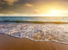 Por do sol do litoral Imagens de Stock Royalty Free