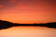 Por do sol do Loch Fotografia de Stock Royalty Free