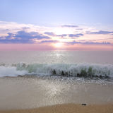 Por do sol do mar Fotografia de Stock Royalty Free