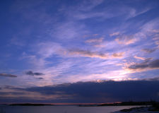 Por do sol do mar Imagem de Stock Royalty Free