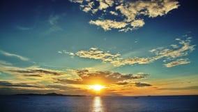 Por do sol do mar Fotos de Stock Royalty Free