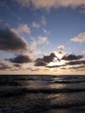 Por do sol do mar Fotografia de Stock
