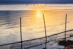 Por do sol do mar em Tailândia Imagem de Stock Royalty Free
