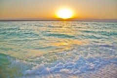 Por do sol do mar inoperante imagem de stock
