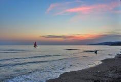 Por do sol do Mar Negro Foto de Stock