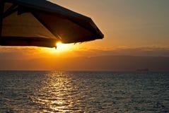 Por do sol 2 do Mar Vermelho fotos de stock