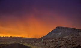 Por do sol do monte do Arizona Foto de Stock