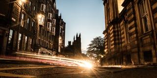 Por do sol do monte, Edimburgo Imagem de Stock