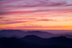 Por do sol do Mt Buller Imagens de Stock