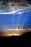 Por do sol do ninho de Eagles Imagem de Stock