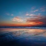 Por do sol do oceano Imagens de Stock