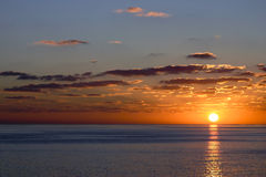 Por do sol do oceano imagem de stock royalty free