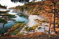Por do sol do outono Foto de Stock