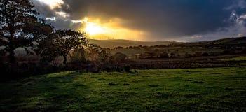 Por do sol do outono Fotos de Stock