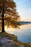 Por do sol do outono no lago foto de stock royalty free