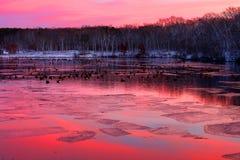 Por do sol do parque estadual do corte da rocha Imagens de Stock Royalty Free