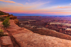 Por do sol do parque nacional de Canyonlands Foto de Stock Royalty Free