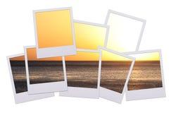 Por do sol do Polaroid imagem de stock royalty free