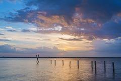 Por do sol do rio Fotografia de Stock Royalty Free