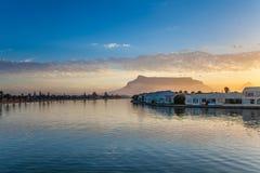 Por do sol do rio de Cape Town Imagem de Stock Royalty Free