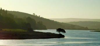 Por do sol do rio de Goukou Imagem de Stock
