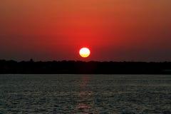 Por do sol do rio de Myakka Fotos de Stock