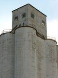 Por do sol do silo imagens de stock royalty free