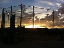 Por do sol do softball fotos de stock royalty free