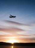 Por do sol do vôo Imagem de Stock