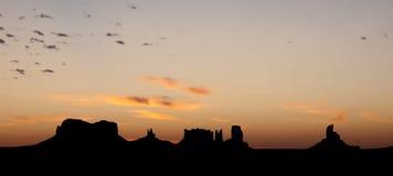 Por do sol do vale do monumento Foto de Stock