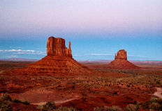 Por do sol do vale do monumento Imagens de Stock Royalty Free