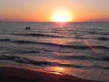 Por do sol do verão Fotos de Stock Royalty Free