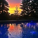 Por do sol do verão Imagem de Stock