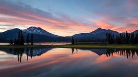 Por do sol do verão do lago sparks Fotografia de Stock