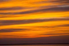Por do sol do verão na praia Imagem de Stock