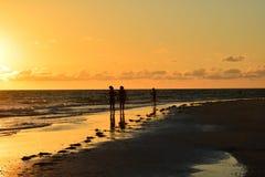 Por do sol doce Fotografia de Stock