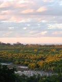 Por do sol dos pantanais de Boondal Fotos de Stock