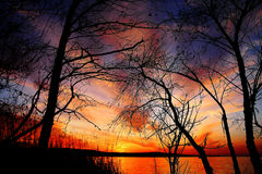 Por do sol dos sonhos Imagens de Stock