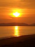 Por do sol dourado Fotografia de Stock Royalty Free