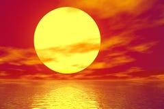 Por do sol dourado Foto de Stock Royalty Free