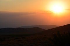 Por do sol dourado Imagem de Stock Royalty Free