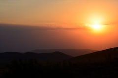 Por do sol dourado Imagem de Stock