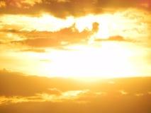 Por do sol dourado Fotos de Stock