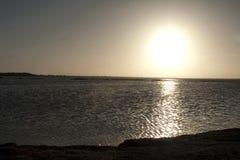 Por do sol dourado nas chaves de Florida Imagem de Stock Royalty Free