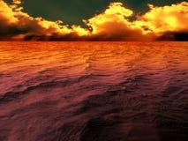 Por do sol dramático Foto de Stock Royalty Free