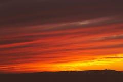 Por do sol dramático Fotos de Stock Royalty Free