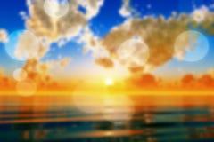 Por do sol dramático borrado ilustração royalty free