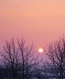 Por do sol dramático da paisagem Fotos de Stock Royalty Free
